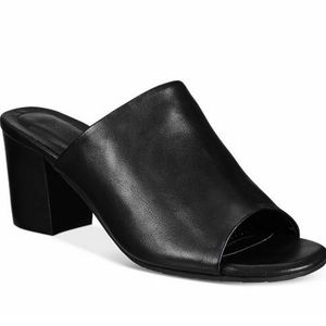 Reaction Kenneth Cole Leather Mast-Ter-Mind Mules